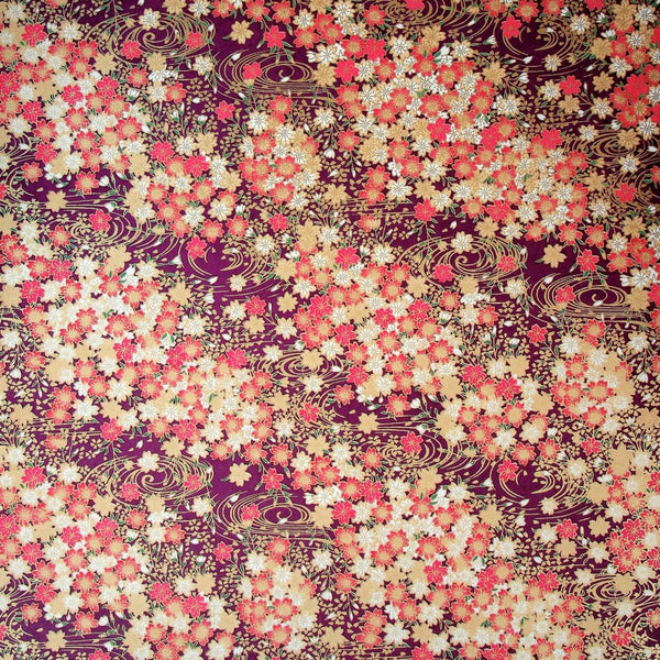 Blossom Pond Printed Handmade Paper - 470mm x 620mm - paper Japanese Stationery