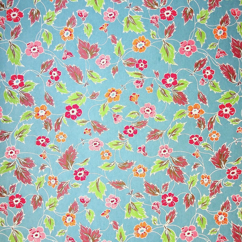 Blue Ditsy Floral Print - 470mm x 620mm - paper Japanese Stationery