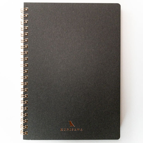 Charcoal Spiral Hard cover A5 Notebook - notebooks Japanese Stationery