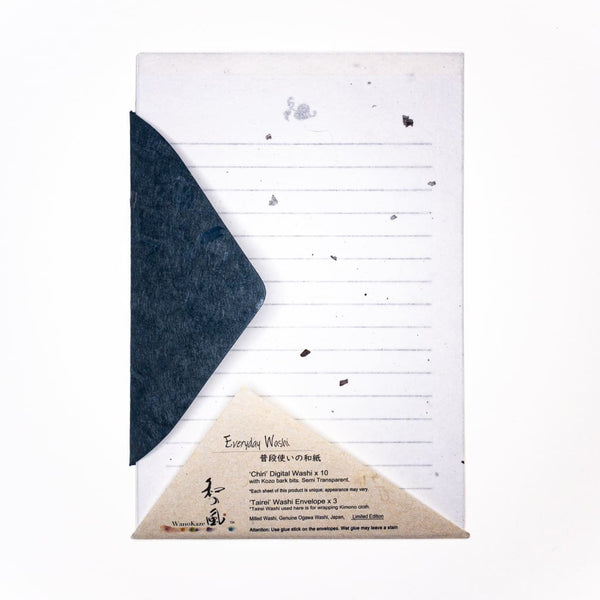 Chiri Limited Edition Letter Set. 10 Sheets & 3 Envelopes - Writing Sets Japanese Stationery