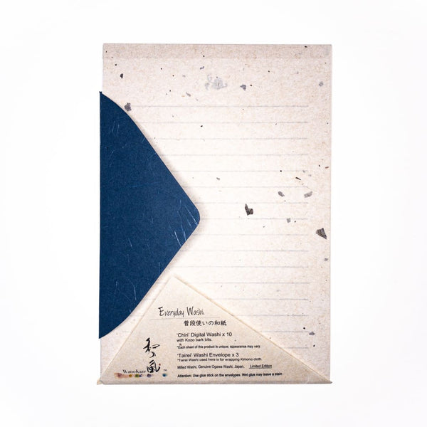 Chiri Natural Limited Edition Letter Set. 10 Sheets & 3 Envelopes - Writing Sets Japanese Stationery