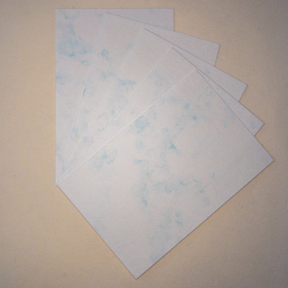 Cloud pattern 'Kogei-shi' Handmade Postcards. Set of 5-Ogawa Washi-Japan Stationery