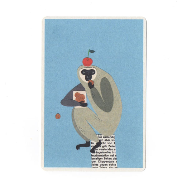 Cookie Monster Collage Print Postcard - Cards Japanese Stationery