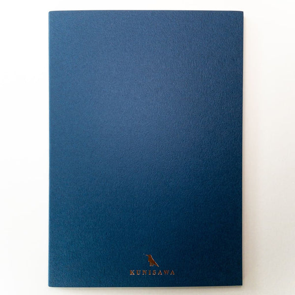 Dark Blue Hard cover Slim A5 Notebook - notebooks Japanese Stationery