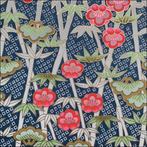 Floral Bamboo Printed Handmade Paper - paper