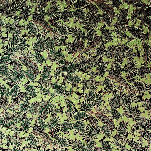 Green Leaf Printed Paper - 470mm x 620mm - paper Japanese Stationery