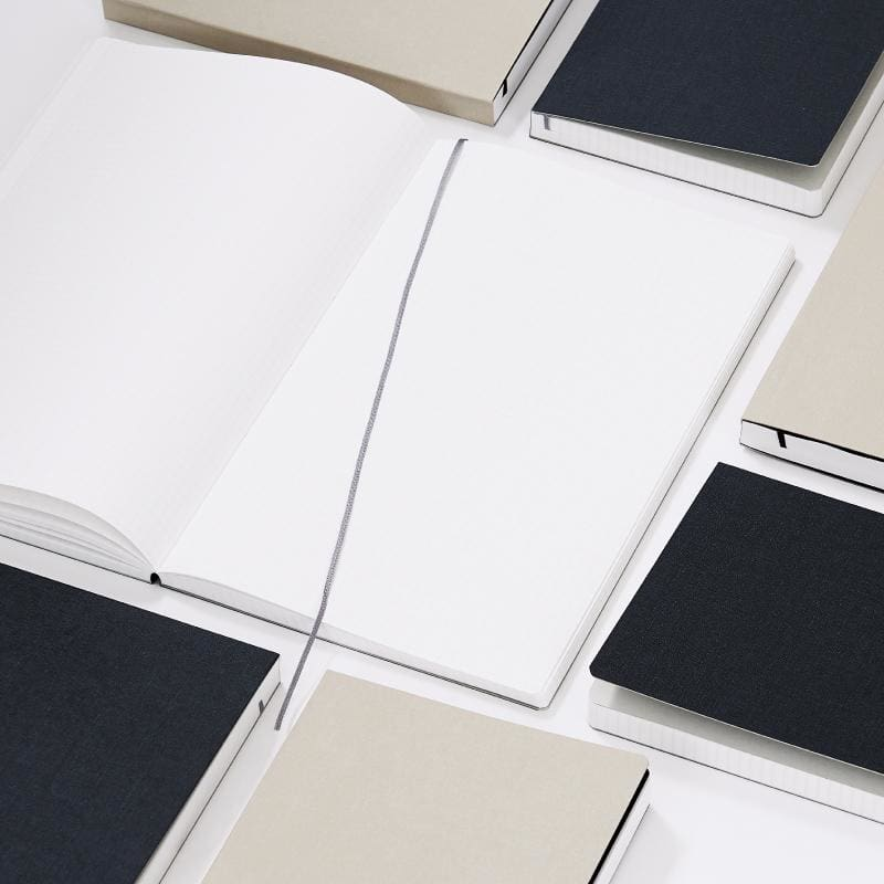 Grey A5 Notebook 272 Pages - notebooks Japanese Stationery