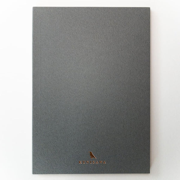Grey Hard cover Slim A5 Notebook - notebooks Japanese Stationery