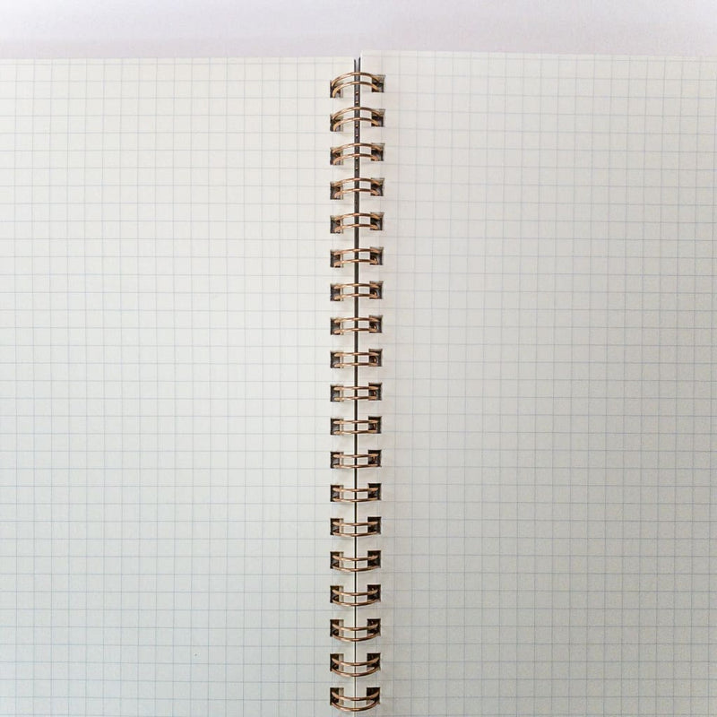 Grey Spiral Hard cover A5 Notebook - notebooks Japanese Stationery