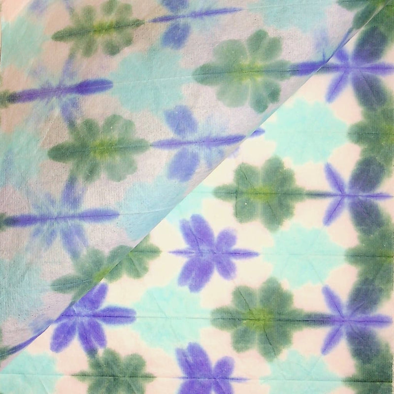 Hand-dyed Shibori Blue Snowflake paper - paper Japanese Stationery