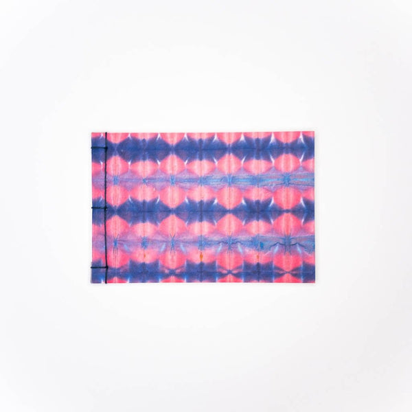 Handmade A6 Pink Wave Shibori Notebook - notebooks Japanese Stationery