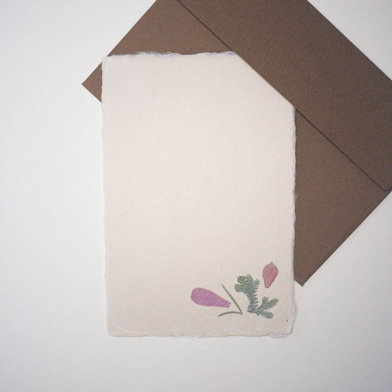 Handmade Dried Flower Postcard & Envelope - Cards Japanese Stationery