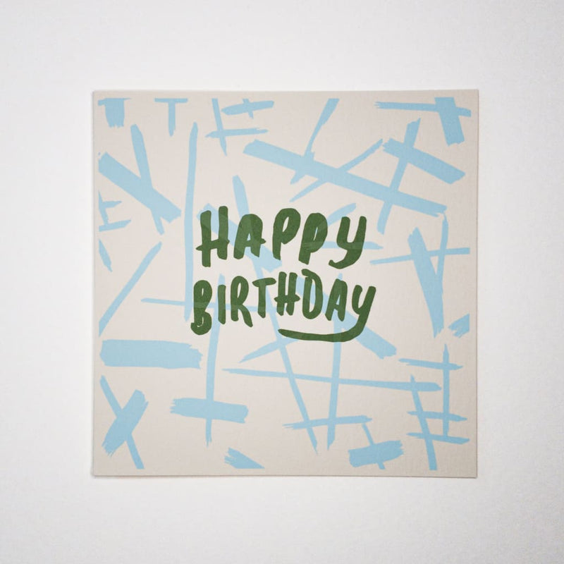 HAPPY BIRTHDAY lines. Hand printed Greeting Card - Cards Japanese Stationery