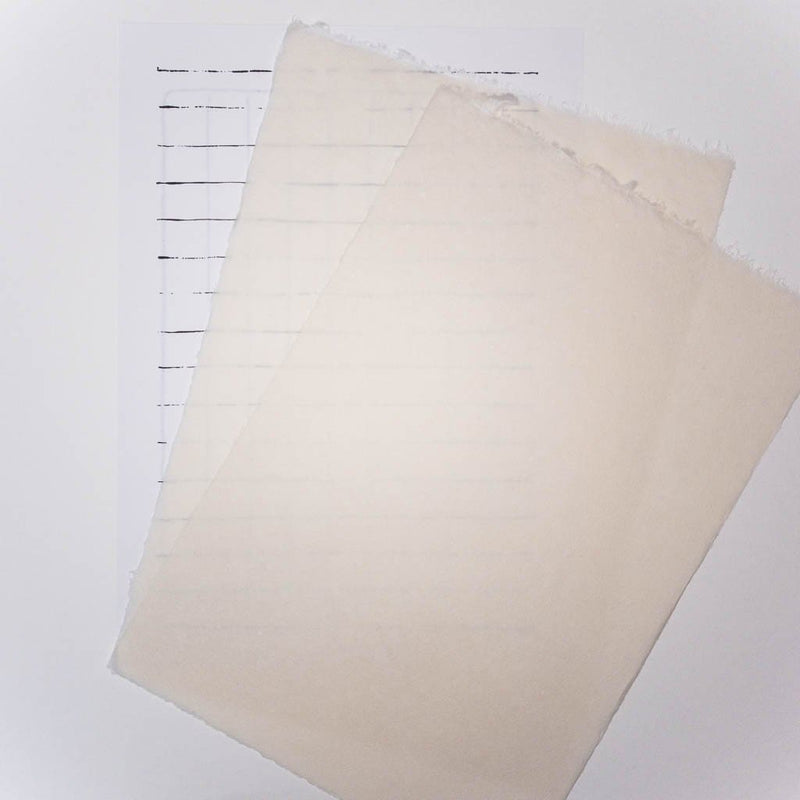 Inshu Natural Washi Heritage Letter Paper. 10 MEDIUM Sheets - Letter Papers Japanese Stationery