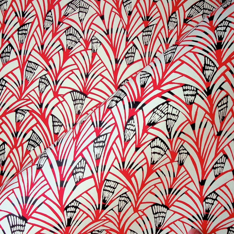 Japanese Reeds Red Print - 470mm x 620mm - paper Japanese Stationery