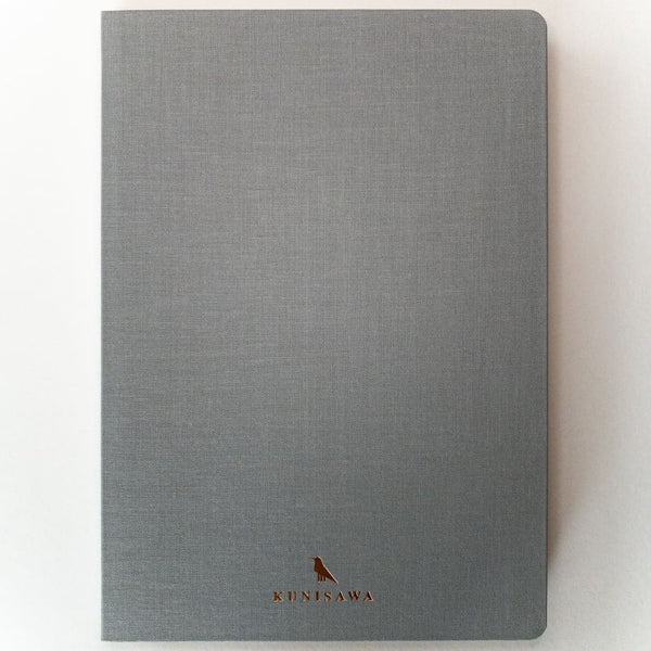 Light Grey Hard cover A5 Notebook - notebooks Japanese Stationery