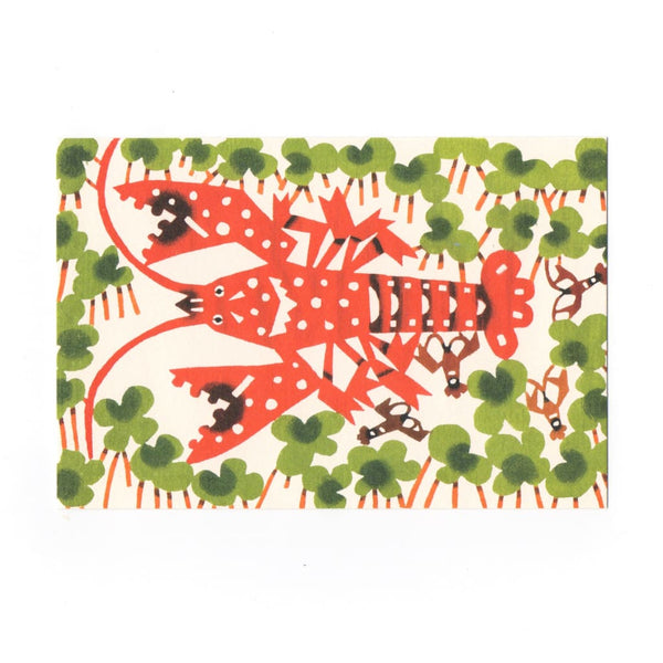 Lobster Katazome Postcard - Cards Japanese Stationery