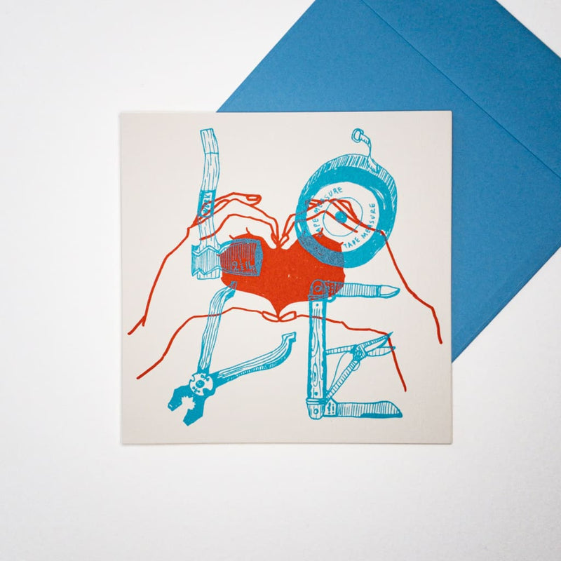 LOVE. Hand printed Greeting Card - Cards Japanese Stationery
