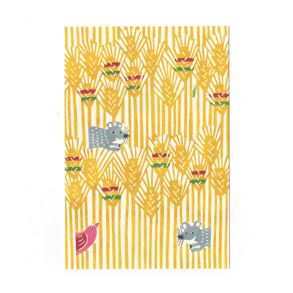 Mice in Wheat fields Postcard - Cards Japanese Stationery