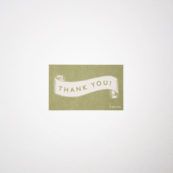 Mini Message Card THANK YOU banner - Cards Japanese Stationery