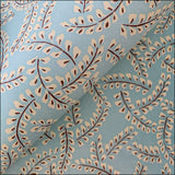 Mint Blue Wisteria Flower Printed Handmade Paper - paper