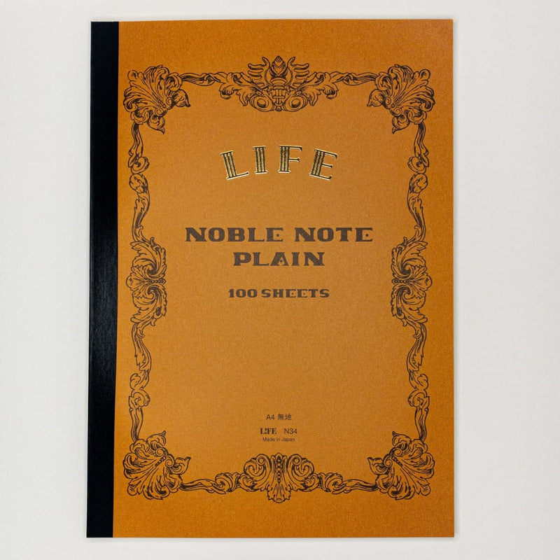 Noble Note A4 Notebook Plain Paper 100 Pages - notebooks Japanese Stationery