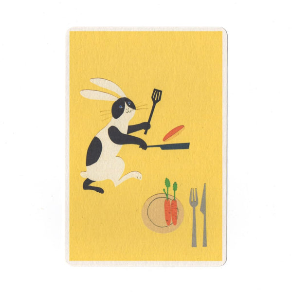 Pancake Lunch Collage Print Postcard - Cards Japanese Stationery