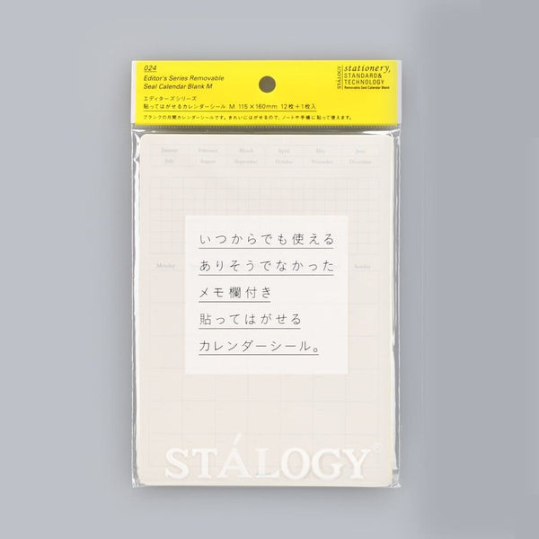 Stalogy Calendar Removable Seal - Japan Stationery Japanese Stationery