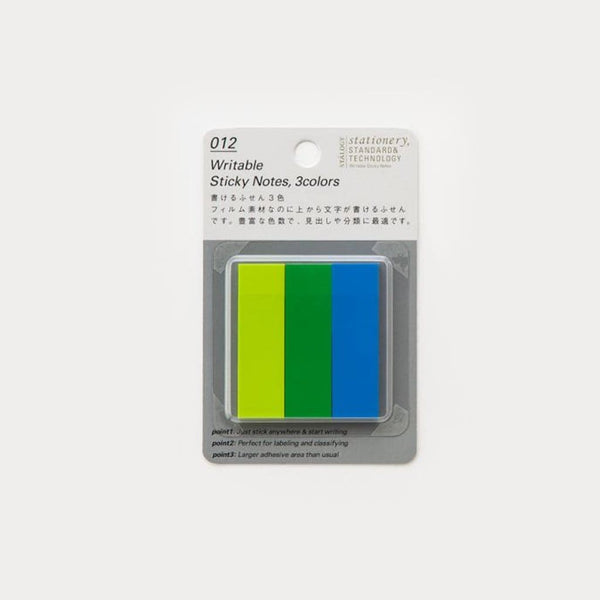 Stalogy Cool Coloured Tab Sticky Notes - Japan Stationery Japanese Stationery