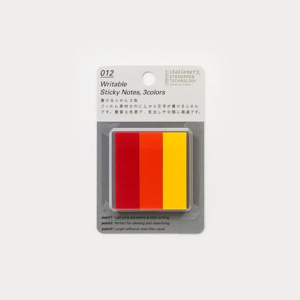 Stalogy Hot Coloured Tab Sticky Notes - Japan Stationery Japanese Stationery
