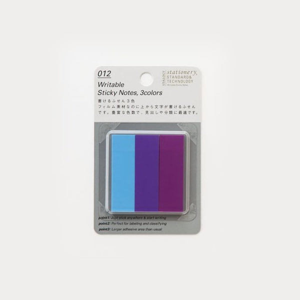 Stalogy Purple Coloured Tab Sticky Notes - Japan Stationery Japanese Stationery