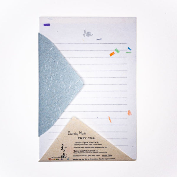 Tanabata Limited Edition Letter Set. 10 Sheets & 3 Envelopes - Writing Sets Japanese Stationery
