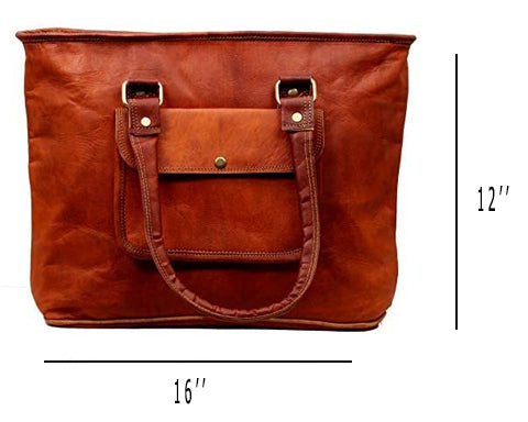 vintage leather tote bag pure leather