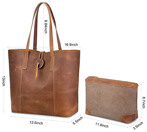 vintage thea leather tote bag
