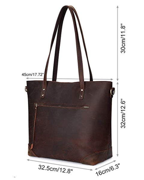 vintage tote leather genuine caly purse