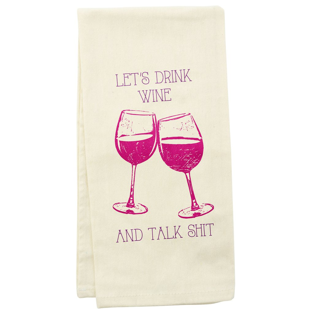 Tea Towels - Wine Glass - Talk Shit