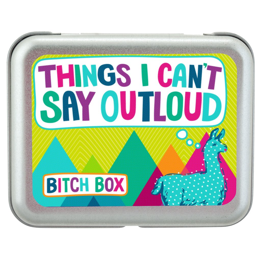 "B*tch Boxes - Llama ""Things I Can't Say Out Loud"""