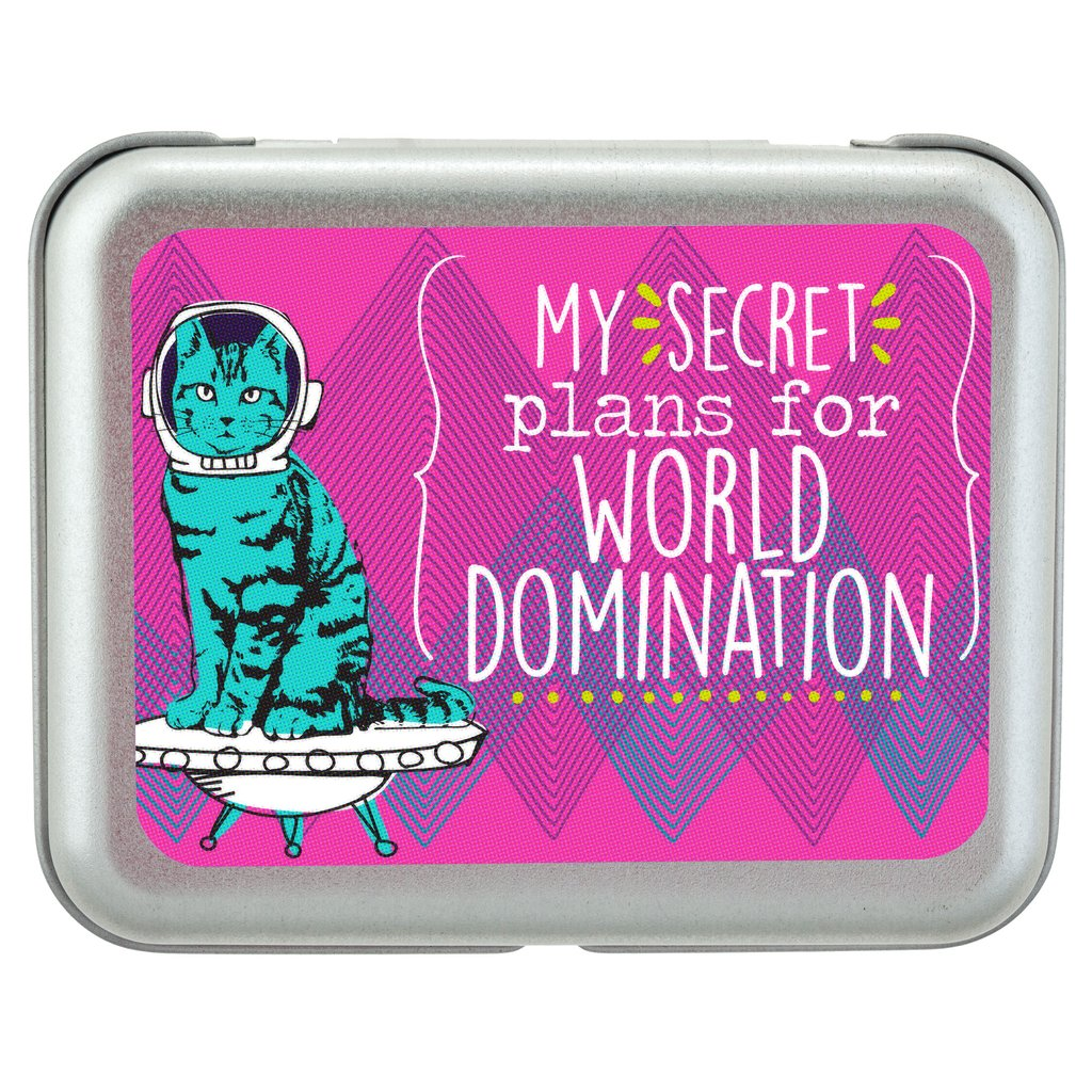"B*tch Boxes - Cat ""My Secret Plans for World Domination""😺"