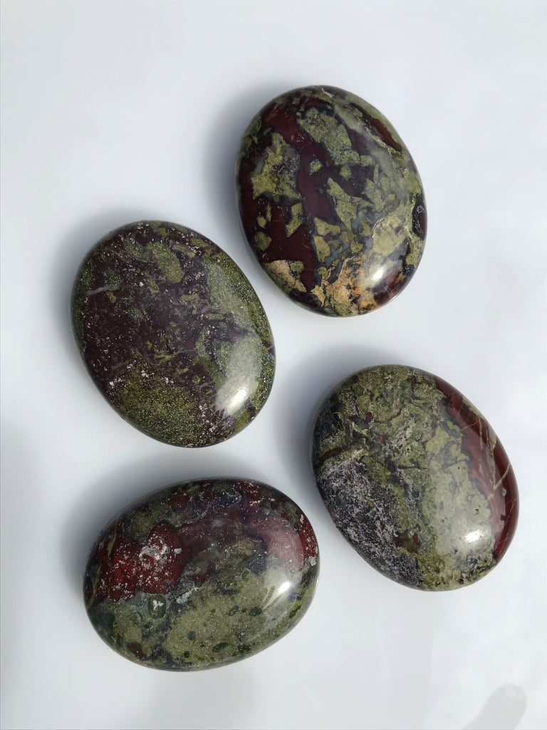 Dragons Blood Jasper Palm Stones
