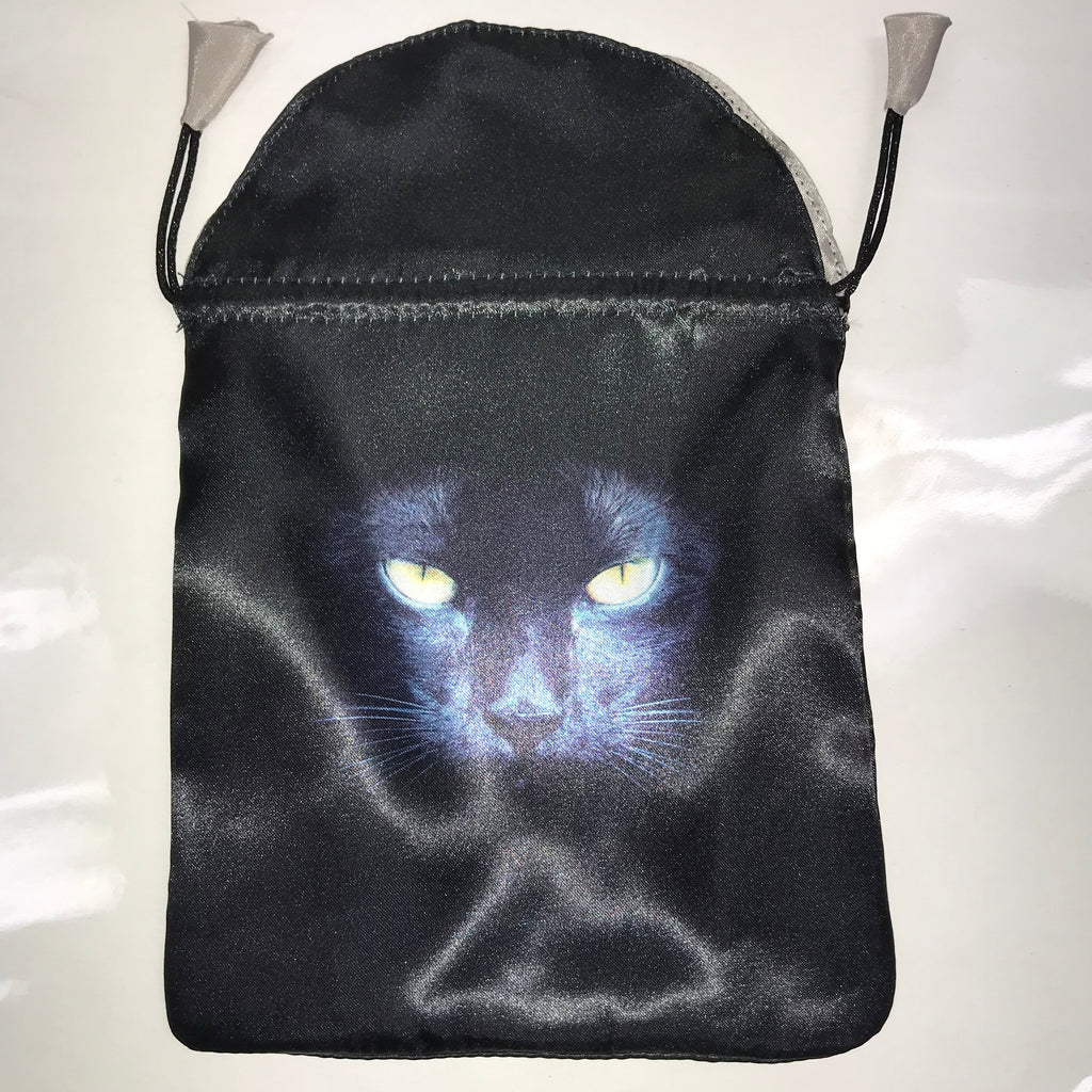 Black Cat Satin Bag
