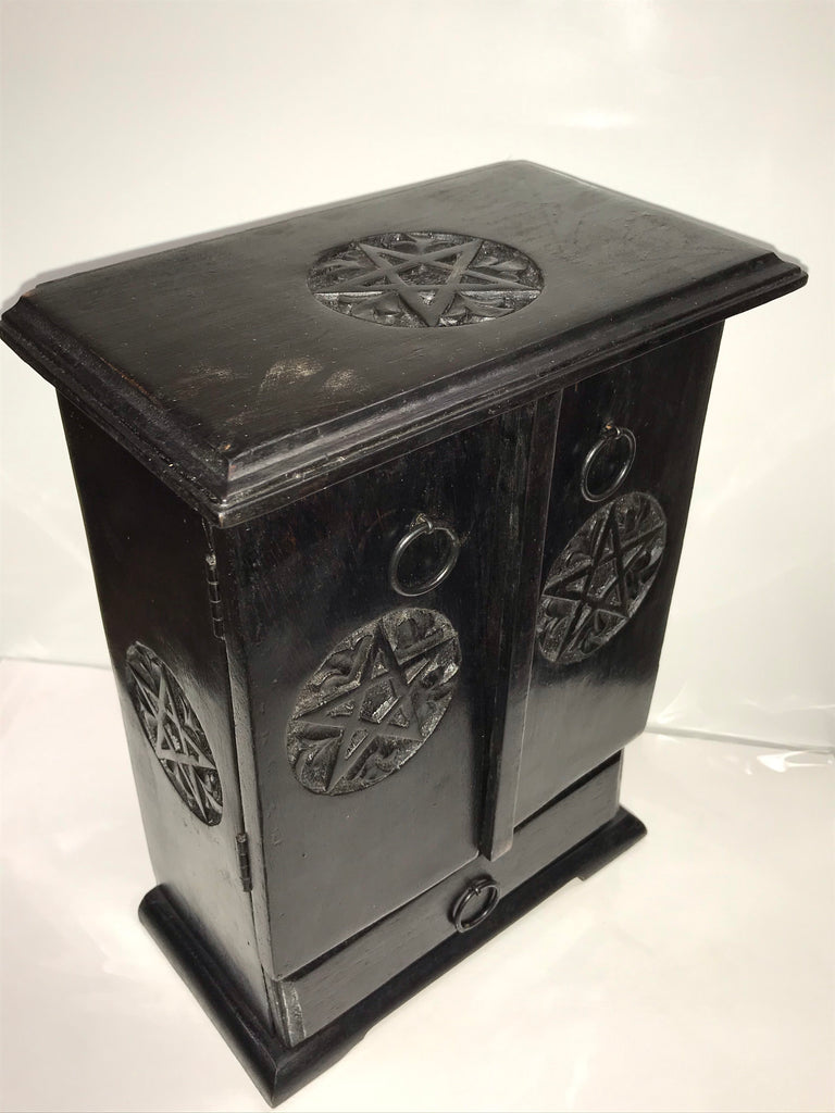 Pentagram Wooden Cupboard Trinket/Storage Box