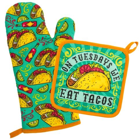 Taco Tuesday Oven MIT & Pot Holder