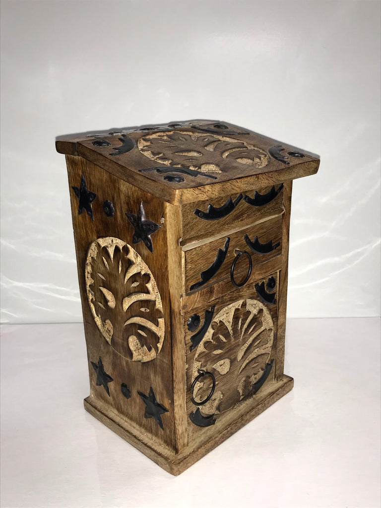 Wooden Storage Almirah Tree of Life
