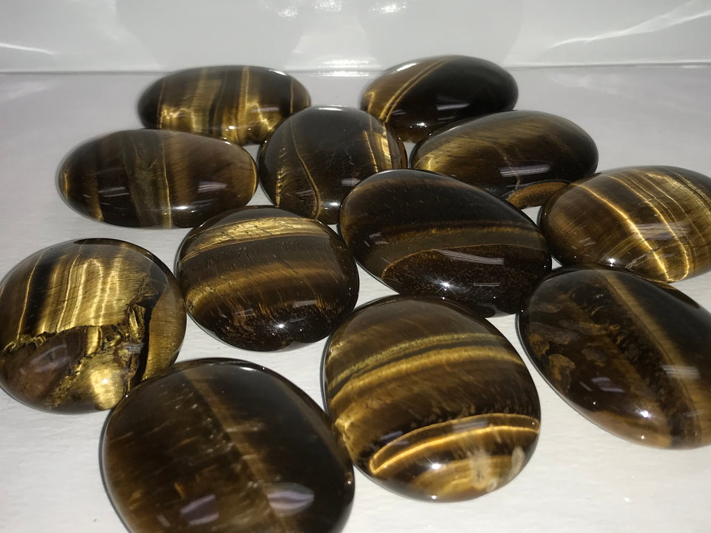 Golden Tiger Eye Palm Stone