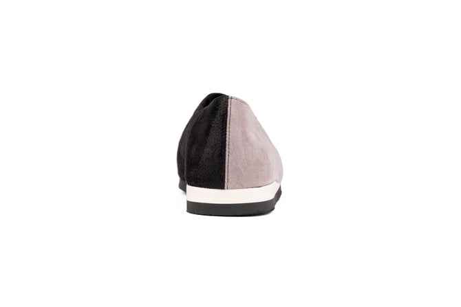 PASTEL PINK AND BLACK Microfiber slip-on shoes
