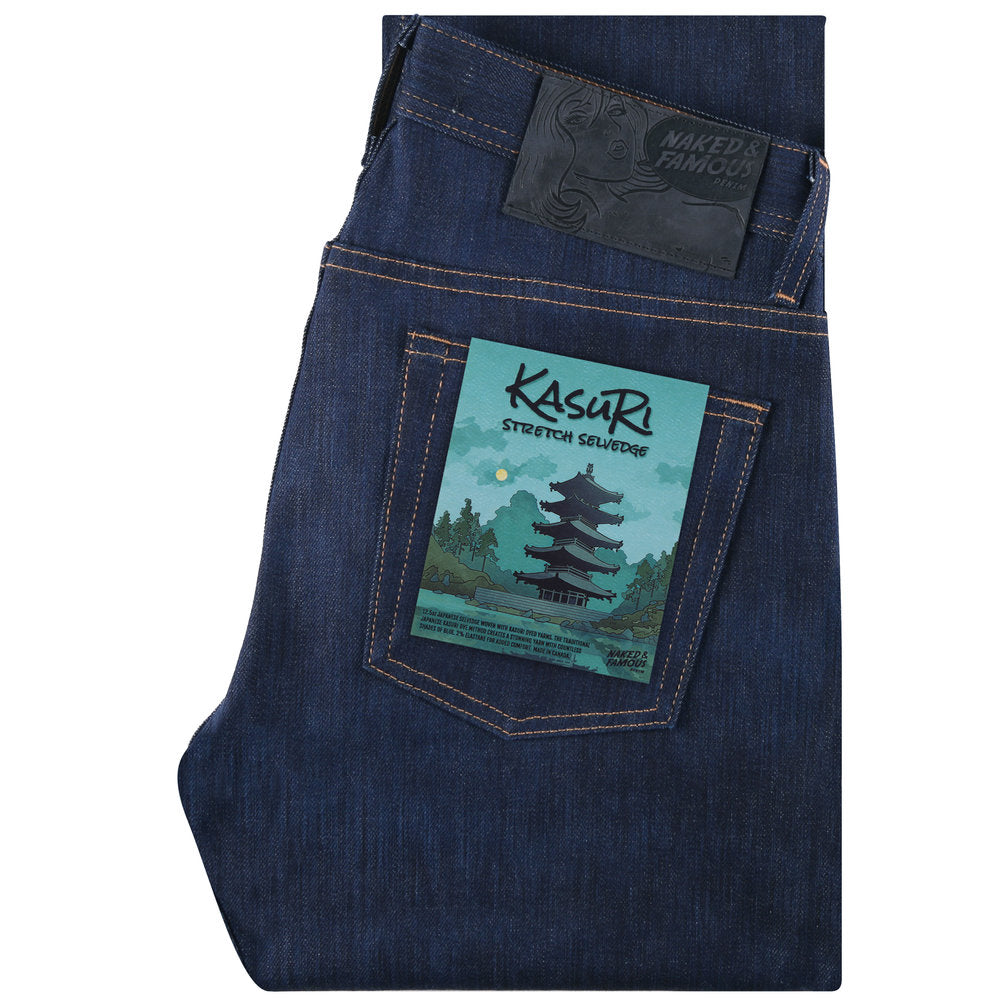 NAKED AND FAMOUS - Kasuri Stretch Selvedge - The Populess Company