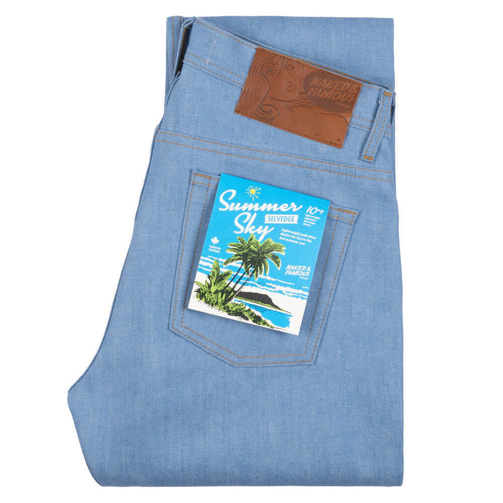 Naked & Famous - Summer Sky Selvedge - Pale Indigo