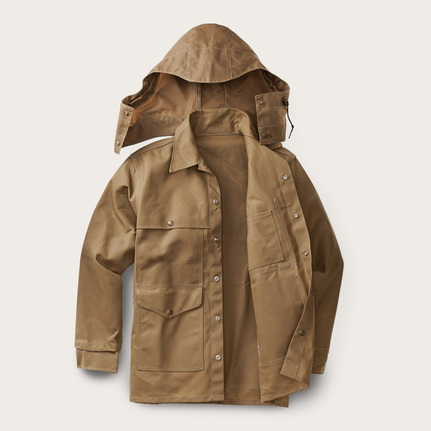 Filson - Tin Cloth Cruiser Jacket - Dark Tan - The Populess Company