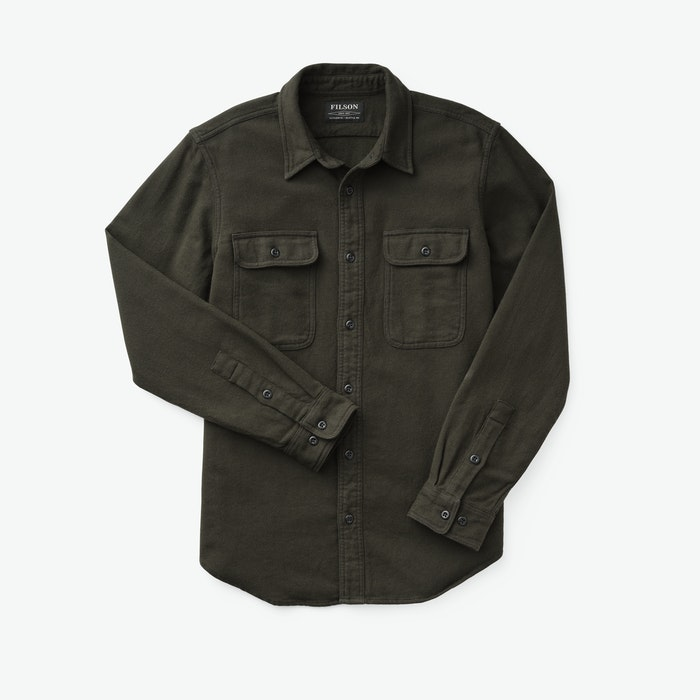 Filson - Vintage Flannel Work Shirt - Olive/Faded Black