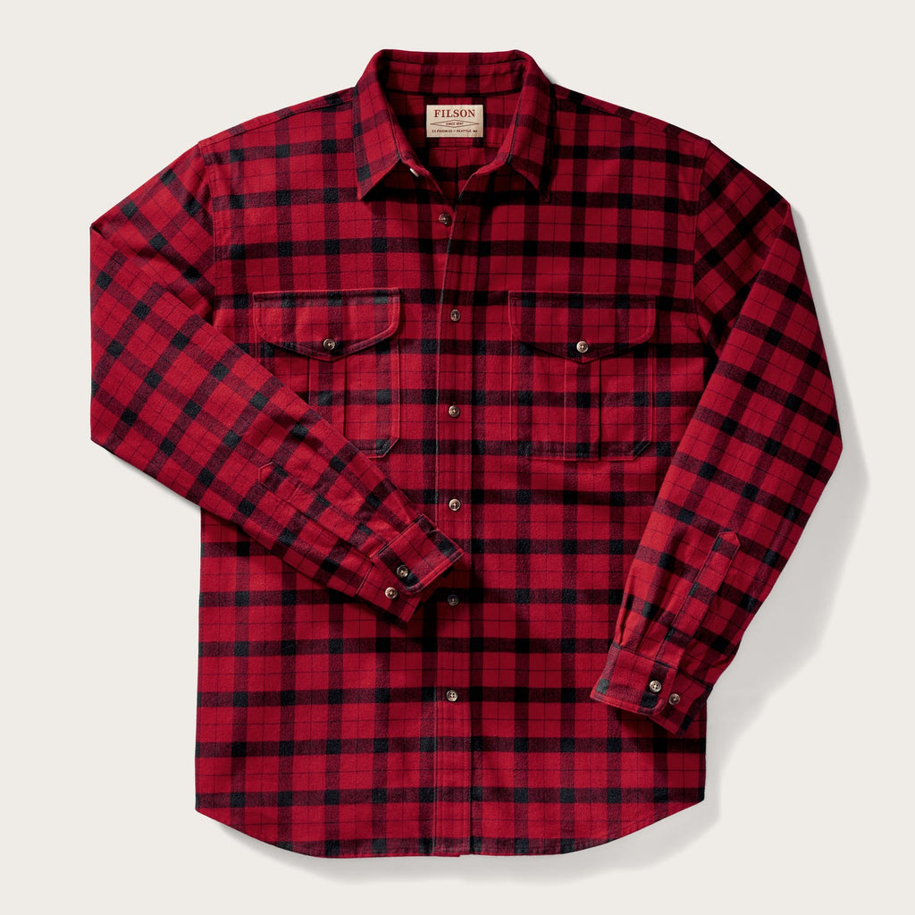 Filson - Alaskan Guide Shirt - Red / Black - The Populess Company